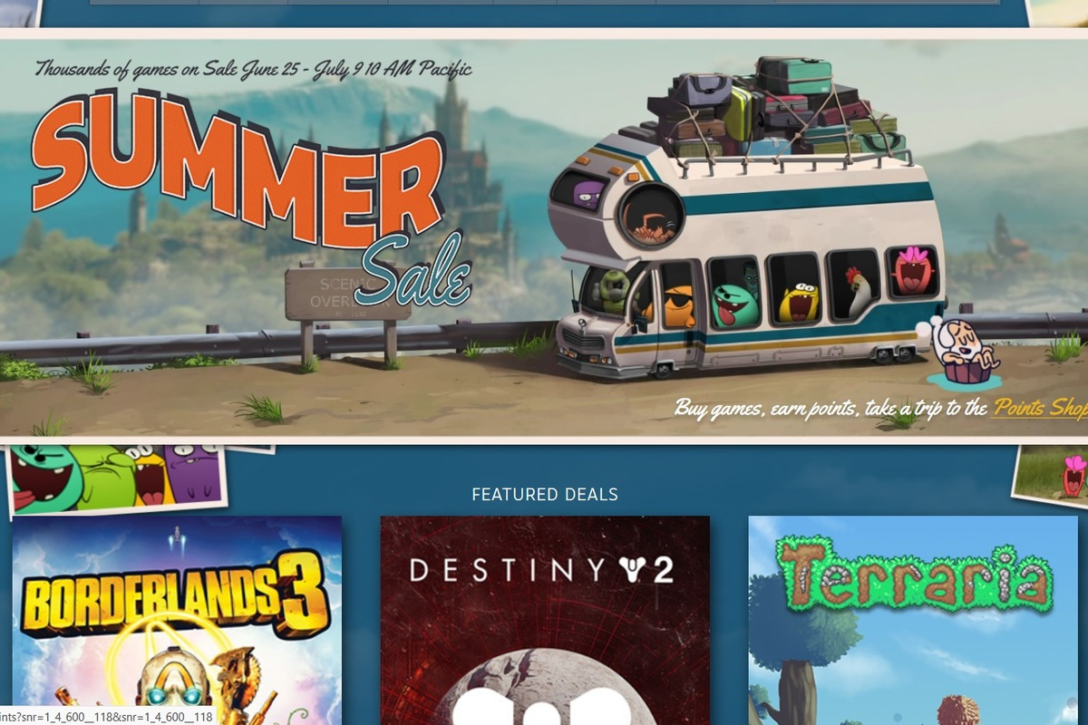 The Steam Summer Sale has launched a permanent Points Shop