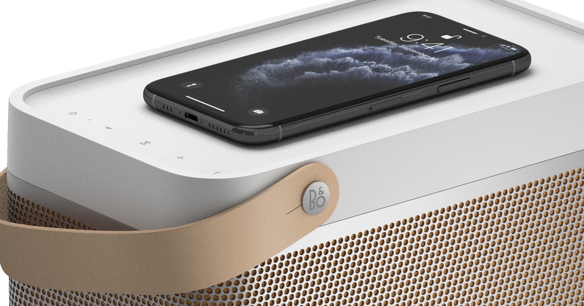 Bang & Olufsen Beolit 20 speaker can charge your iPhone wirelessly