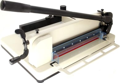 VViViD 12 Inch Guillotine Style Bladeless Paper Trimmer w//Gridded Metal Base Plate