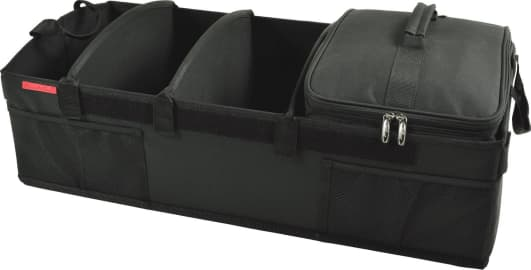 Farasla Collapsible Trunk Organizer with Insulated Leakproof Cooler Bag 3-in-1 w//Cooler, Black