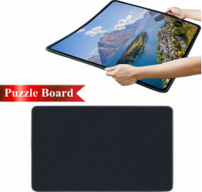 Puzzle Storage Mat Jigsaw Puzzle Roll Mat Environmental Friendly Material for Jigsaw Puzzle Player BOIZAN Puzzle Roll Puzzle Roll Up Mat Jigsaw Storage Felt Mat Gray Jigroll Up to 3000 Pieces