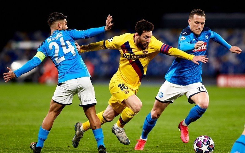 What channel is Barcelona vs. Napoli on today? TV schedule ...