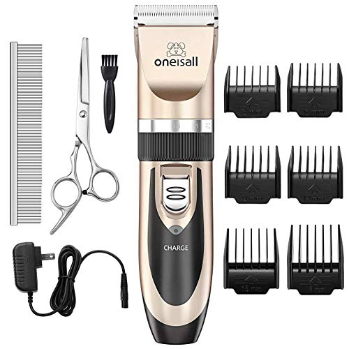 Dog Clippers Face Eyes Professional Dog Grooming Clippers Pet Foot Hair Trimmers with Led Light Low Noise USB Rechargeable Electric Pet Trimmer for Hair Around Paws Ears Rump White