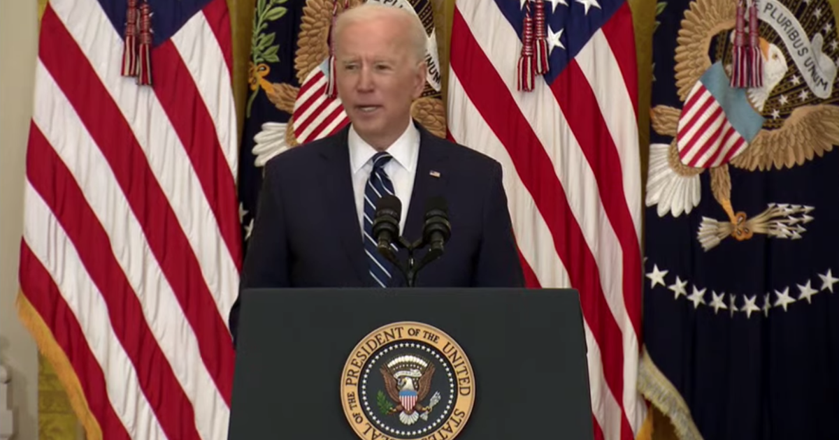 Biden holds first news conference, ups COVID-19 vaccine goal to 200M shots in 100 days
