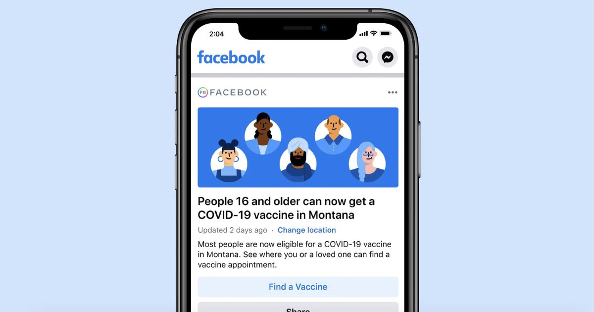 Facebook teams up with state health departments to share more vaccine information