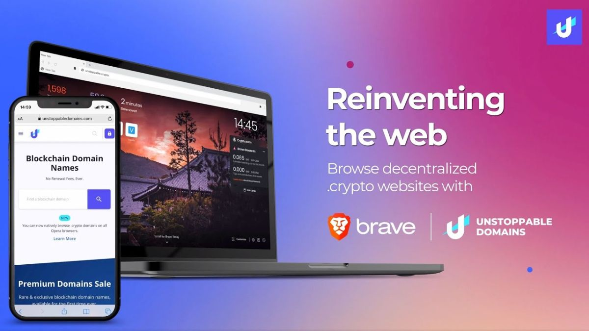Brave and Unstoppable Domains join forces to allow users to access the decentralized web