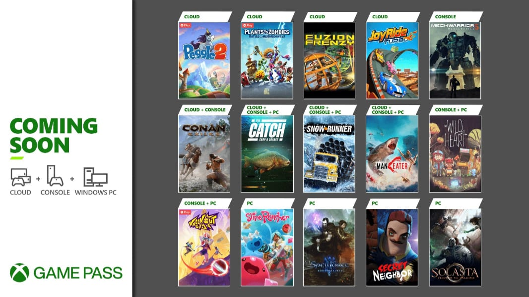 Microsoft Announces Game Pass Titles for the Rest of May