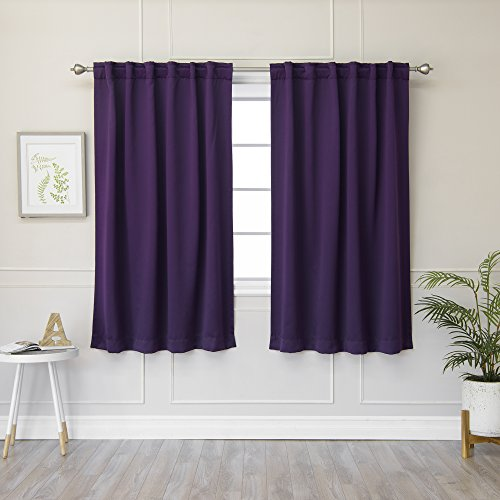 Top 10 Best Home Fashion Thermal Insulated Blackout Curtains Burgundies 2021