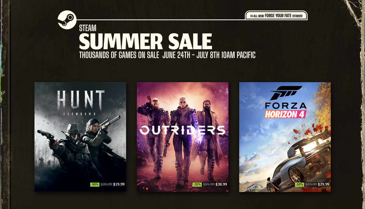The Steam Summer Sale arrives with deep discounts