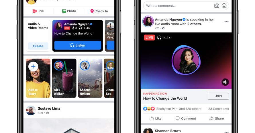 Facebook Launches Audio Rooms, Its Answer to Google Hangouts